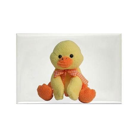Plush Duck Rectangle Magnet (10 pack)