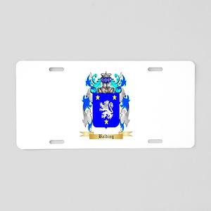 Balding Aluminum License Plate