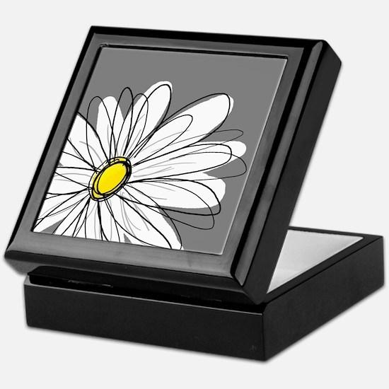 Modern Daisies - gr... Keepsake Box