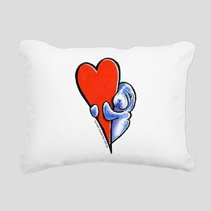 Love Manatees Rectangular Canvas Pillow