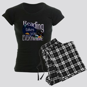 Reading Takes You Everywhere Women's Dark Pajamas