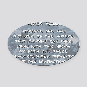 Strange Are the Pictures - Haggard Oval Car Magnet