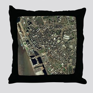 Liverpool, UK, aerial image - Throw Pillow