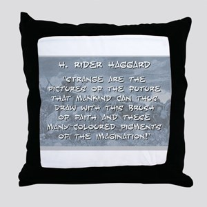 Strange Are the Pictures - Haggard Throw Pillow