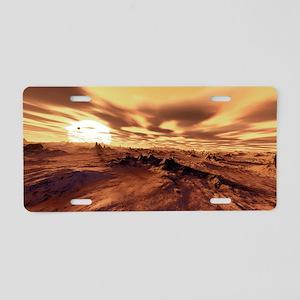 Alien landscape, artwork - Aluminum License Plate