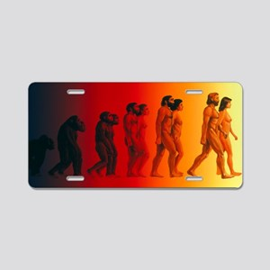 human evolution - Aluminum License Plate