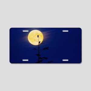 gainst a full Moon - Aluminum License Plate