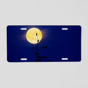 gainst a full Moon - Aluminum License Plate