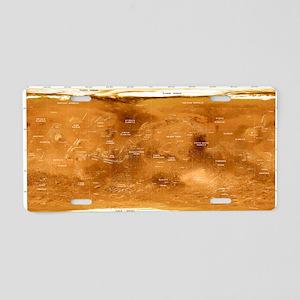 atellite image - Aluminum License Plate