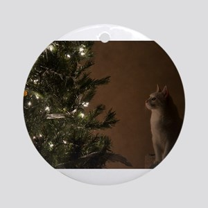 Christmas Cat Ornament (Round)