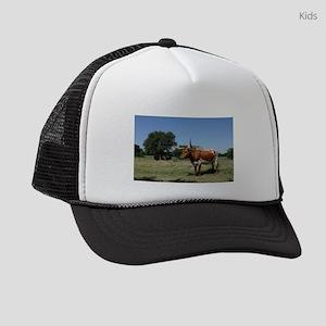 Texas Longhorn Cow Kids Trucker hat