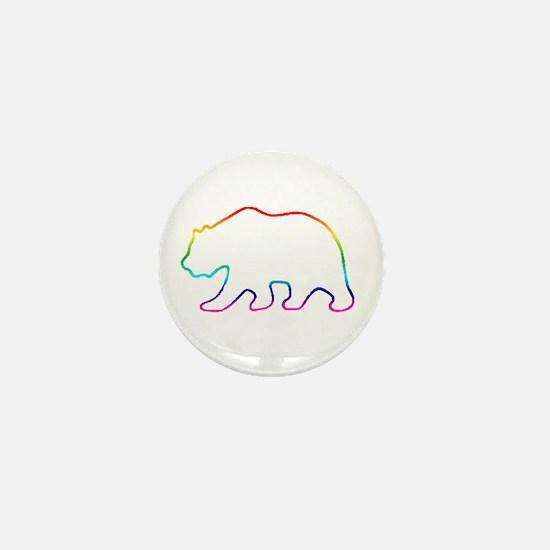 Rainbow Bear 3 Mini Button