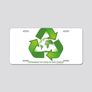 Stewards of God the Earth Aluminum License Plate