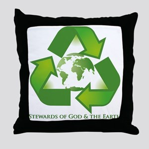 Stewards of God the Earth Throw Pillow