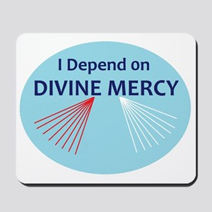 I Depend on Divine Mercy Mousepad