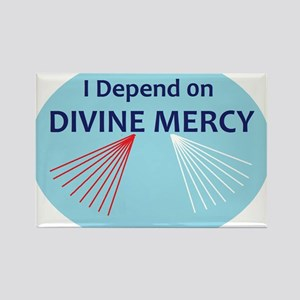 I Depend on Divine Mercy Rectangle Magnet