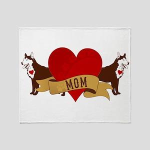Husky Mom Throw Blanket