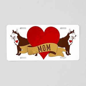 Husky Mom Aluminum License Plate