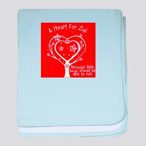 A Heart For Zak Red baby blanket