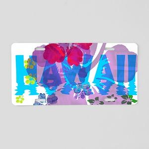 Hawaiian Hibiscus Aluminum License Plate