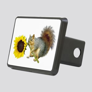 Squirrel Sunflower Rectangular Hitch Cover