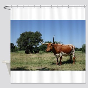Texas Longhorn Cow Shower Curtain
