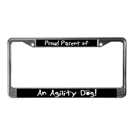 Agility Dog License Plate Frame