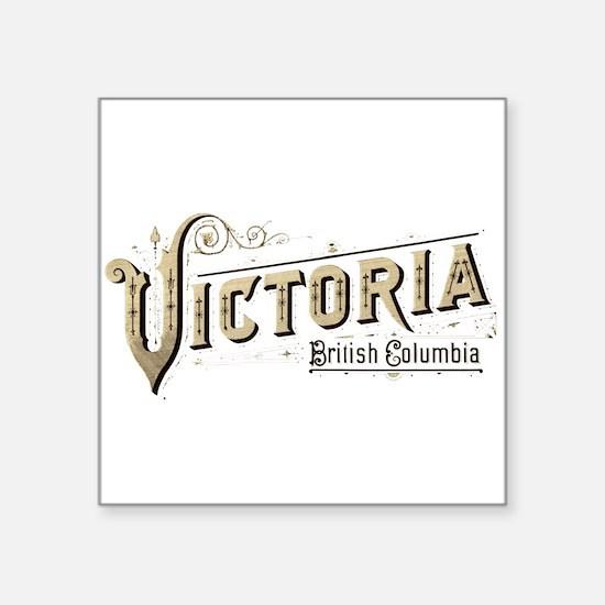 """Victoria BC Square Sticker 3"""" x 3"""""""