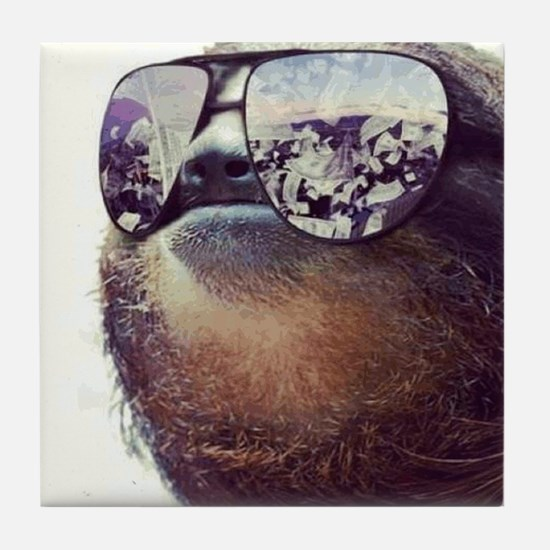 million dollar sloth Tile Coaster