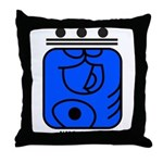 BLUE Cosmic HAND Throw Pillow