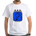BLUE Cosmic HAND White T-shirt