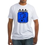 BLUE Cosmic HAND Fitted T-Shirt