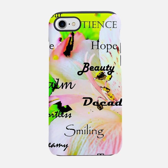 Calm and flowers iPhone 7 Tough Case
