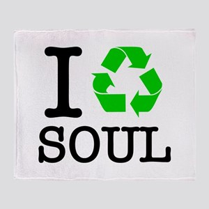 I Recycle Soul Throw Blanket