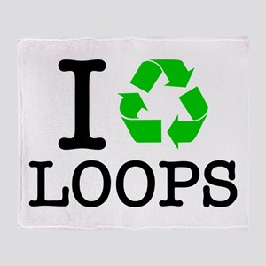 I Recycle Loops Throw Blanket