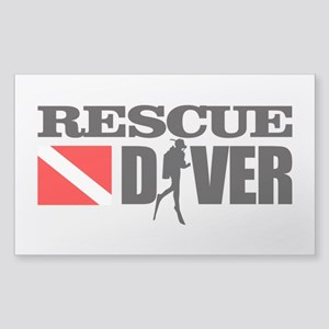 Rescue Diver 3 (blk) Sticker