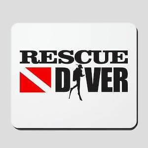 Rescue Diver 3 (blk) Mousepad