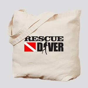 Rescue Diver 3 (blk) Tote Bag