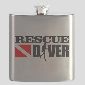 Rescue Diver 3 (blk) Flask