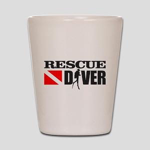 Rescue Diver 3 (blk) Shot Glass