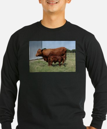 Beefmaster Cow And Calf Long Sleeve T-Shirt