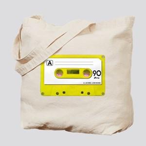 Yellow Cassette Tape Tote Bag