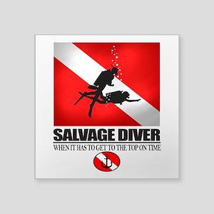 Salvage Diver 2 (back)(black) Sticker