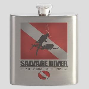 Salvage Diver 2 (back)(black) Flask