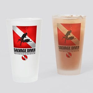 Salvage Diver 2 (back)(black) Drinking Glass