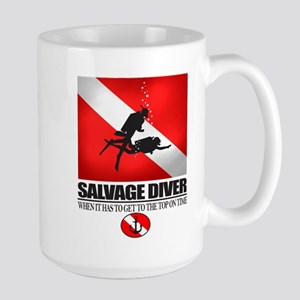 Salvage Diver 2 (back)(black) Mug