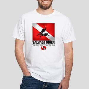 Salvage Diver 2 (back)(black) T-Shirt
