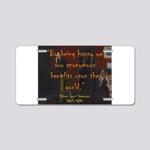 By Being Happy - Stevenson Aluminum License Plate