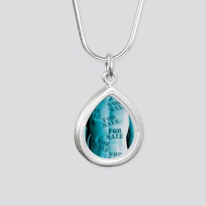 Body parts for sale - Silver Teardrop Necklace