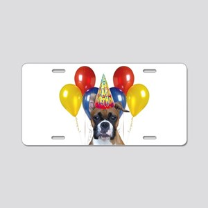 Birthday Boxer Dog Aluminum License Plate